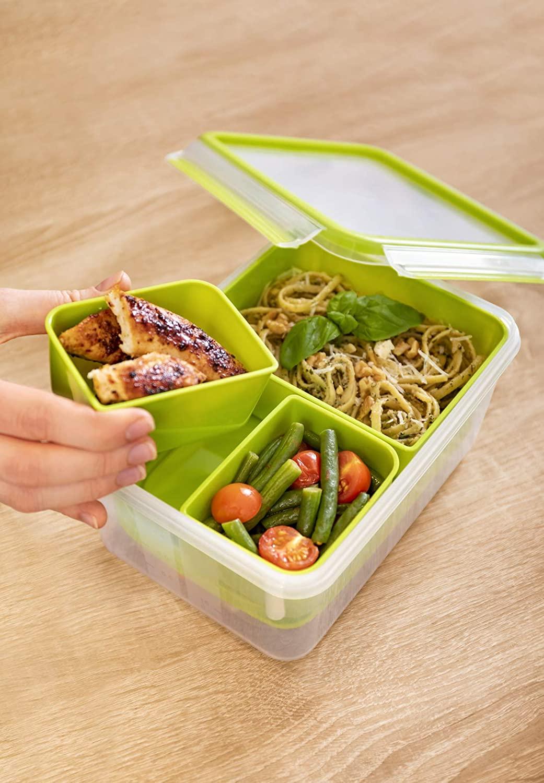 Hộp Đựng Thực Phẩm Emsa N1071600 CLIP & GO Lunchbox XL 2,2L • Germany Store